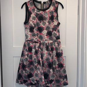 Juicy Couture peplum floral mini dress